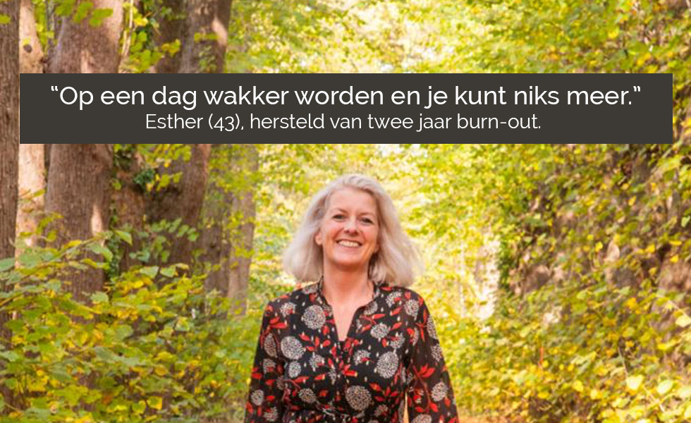 Burn-out interview Esther Louwes